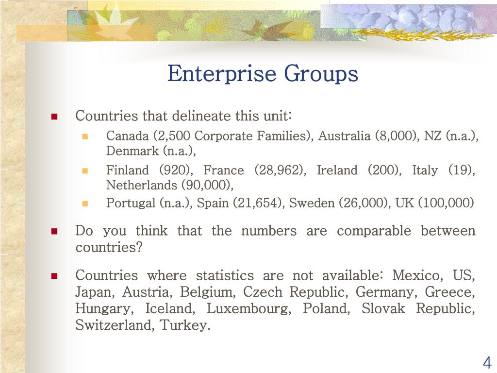 Enterprise Groups