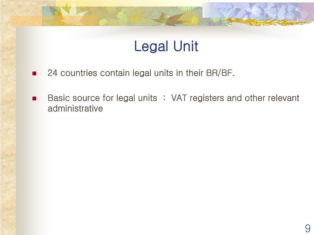 Legal Unit