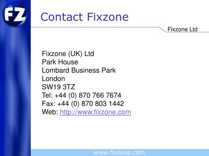 Contact Fixzone