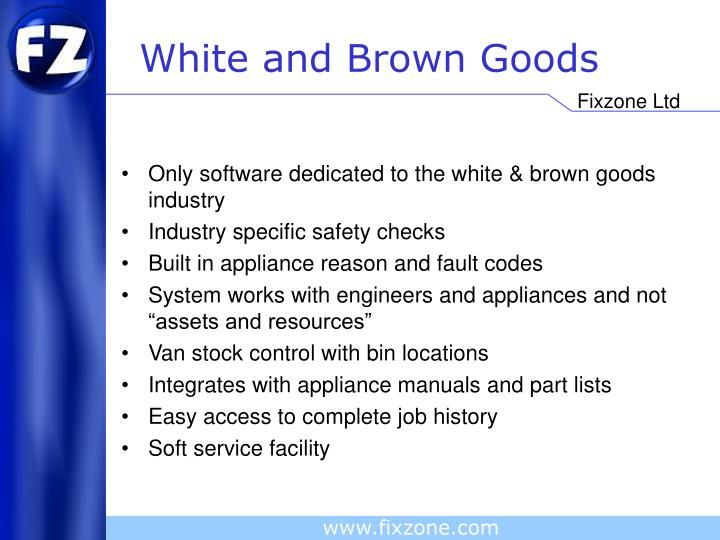 White and brown goods