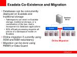 exadata co existence and migration