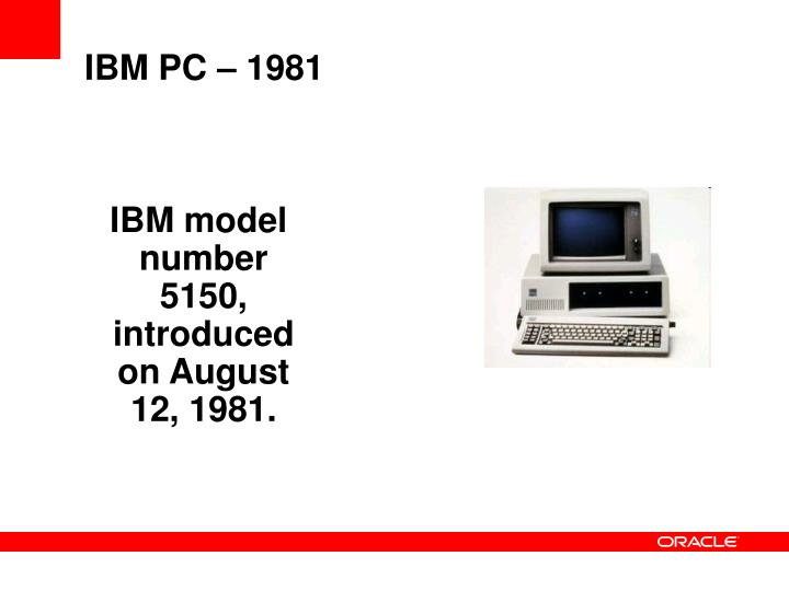 IBM PC – 1981