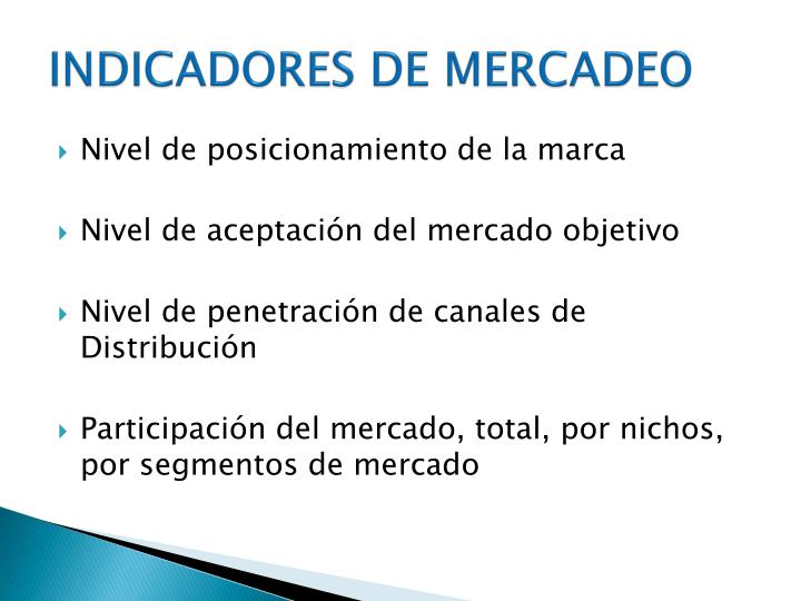 INDICADORES DE MERCADEO