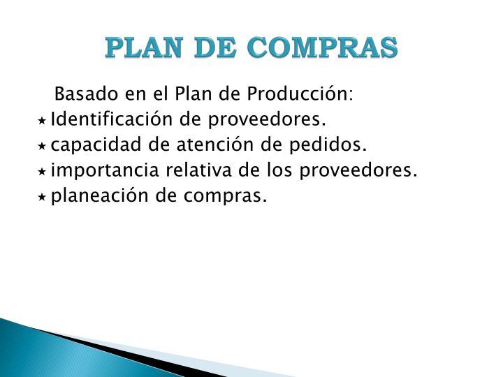 PLAN DE COMPRAS