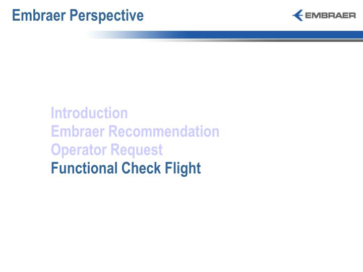 Embraer Perspective