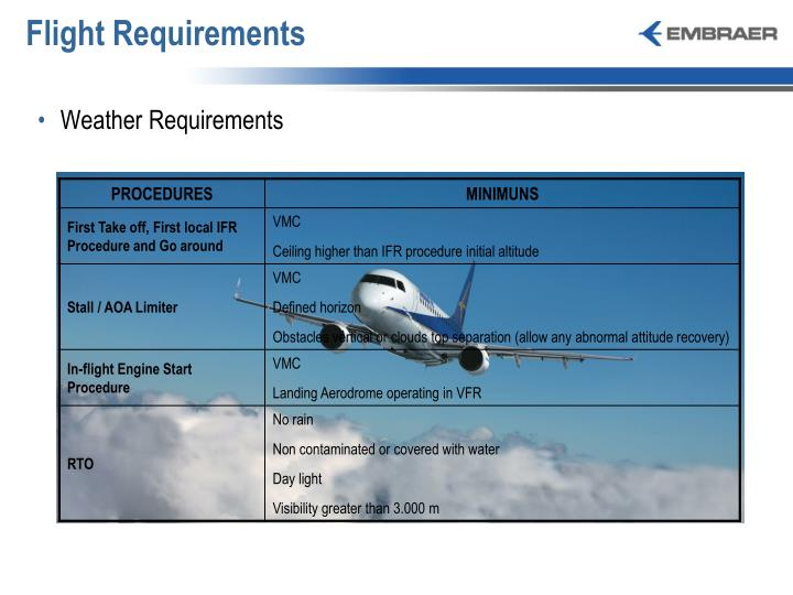Flight Requirements