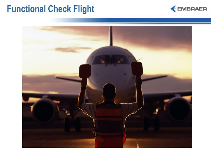 Functional Check Flight
