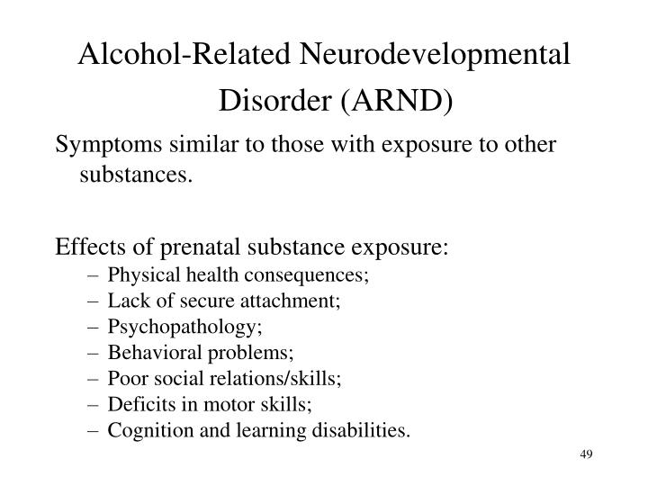 Alcohol-Related Neurodevelopmental Disorder (ARND)