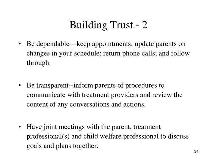 Building Trust - 2
