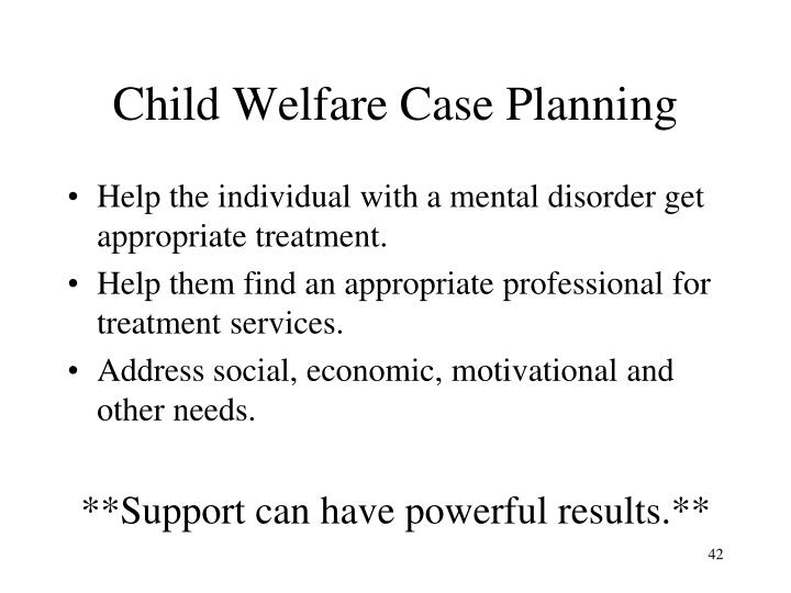Child Welfare Case Planning