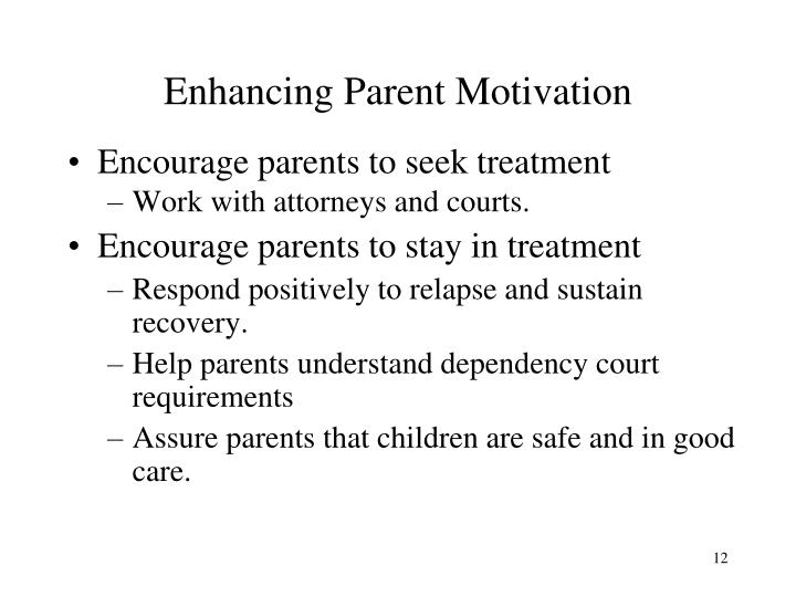 Enhancing Parent Motivation