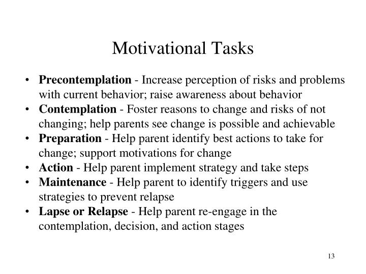 Motivational Tasks