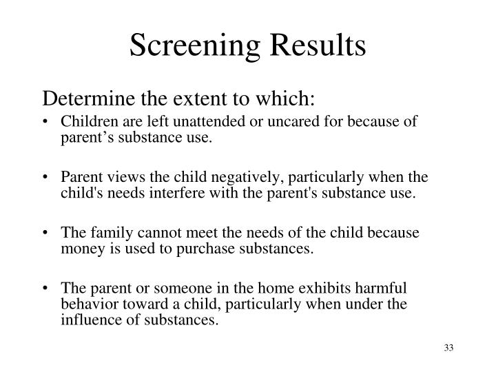 Screening Results
