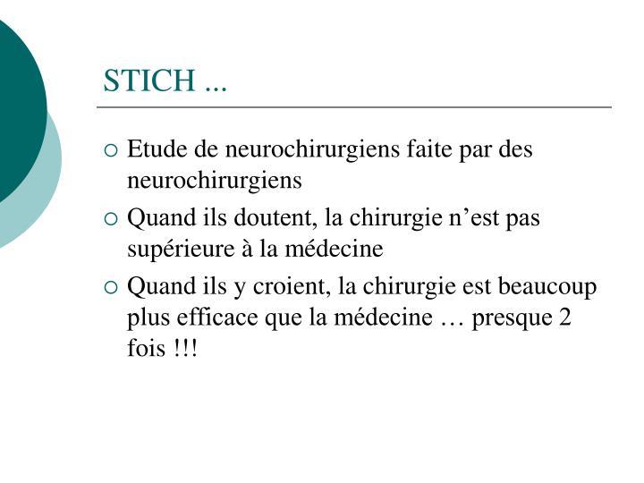 STICH ...