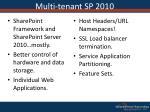 multi tenant sp 2010