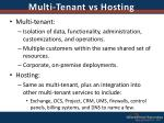 multi tenant vs hosting