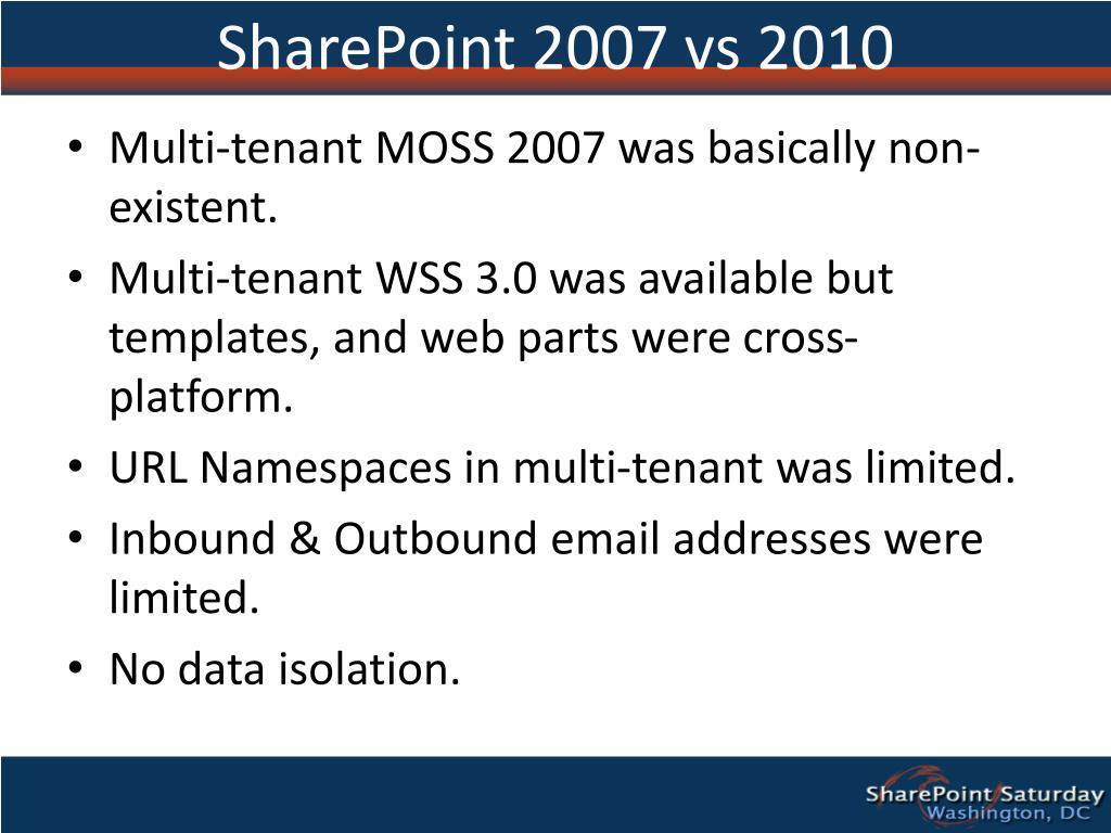 SharePoint 2007 vs 2010