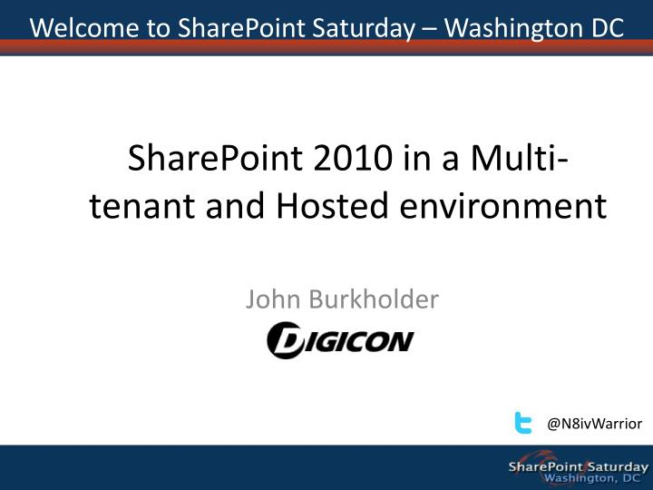 Sharepoint 2010 in a multi tenant and hosted environment