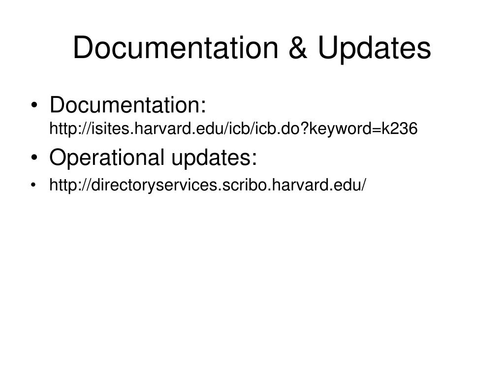 Documentation & Updates