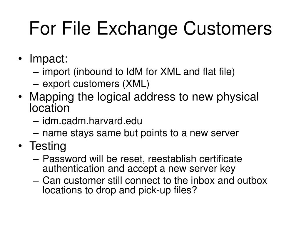 For File Exchange Customers