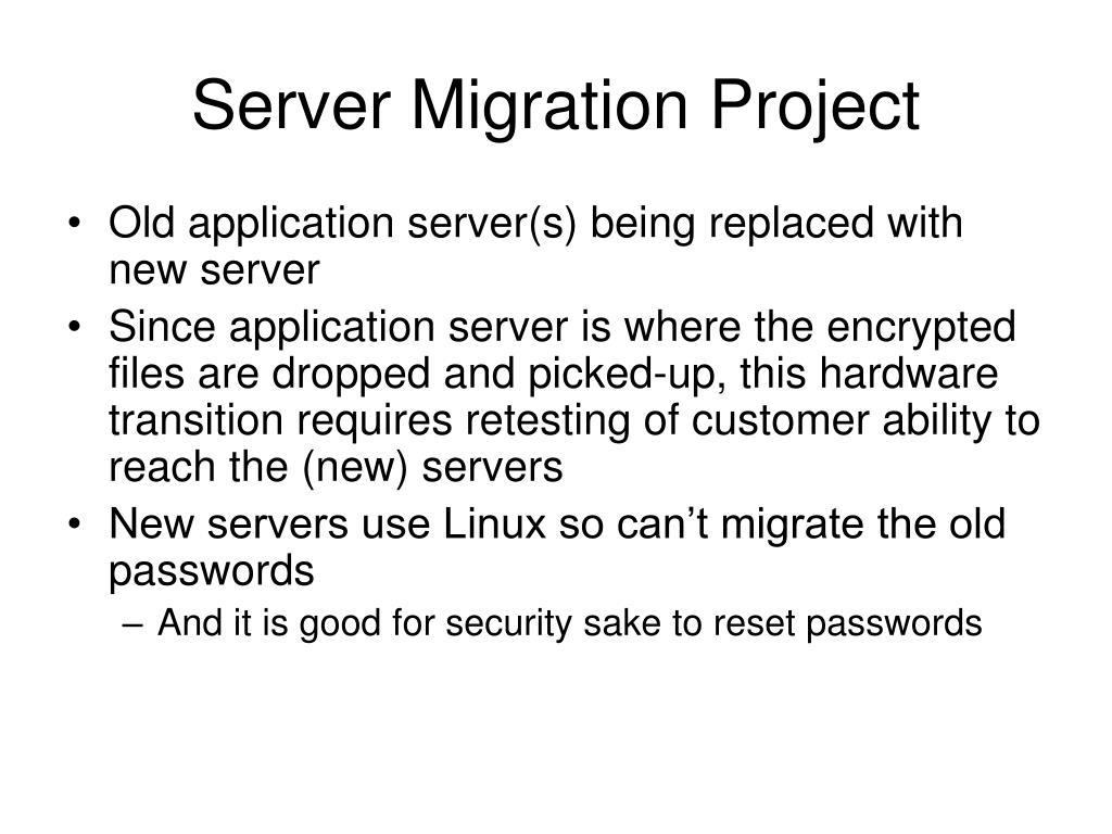 Server Migration Project