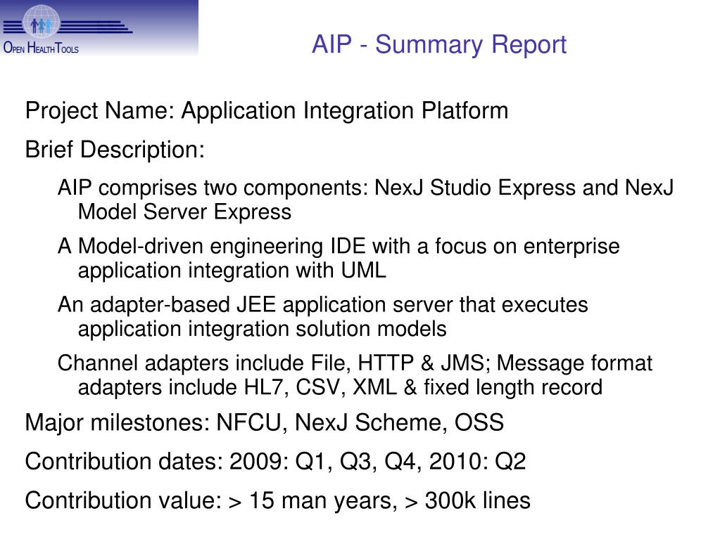 AIP - Summary Report