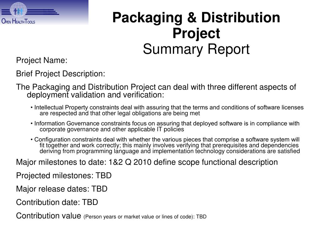 Packaging & Distribution Project