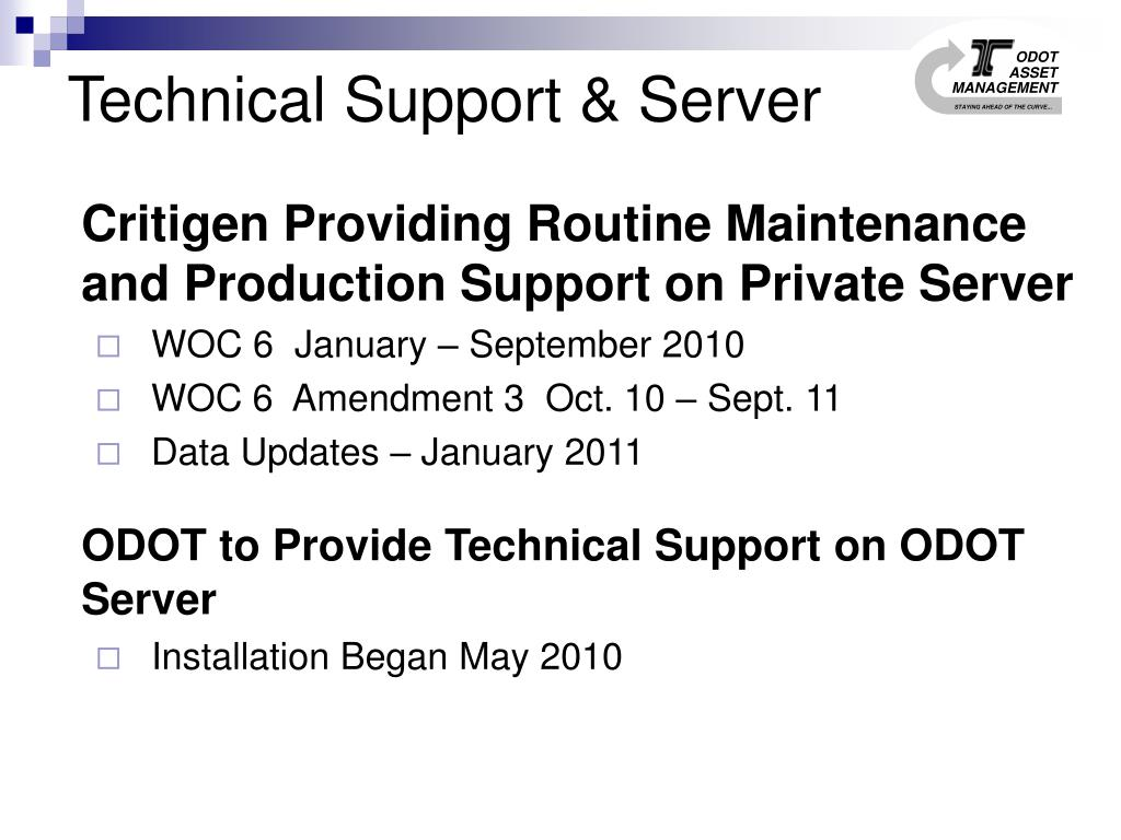 Technical Support & Server