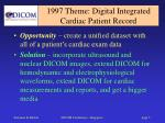 1997 theme digital integrated cardiac patient record