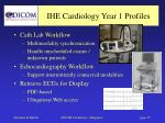 ihe cardiology year 1 profiles