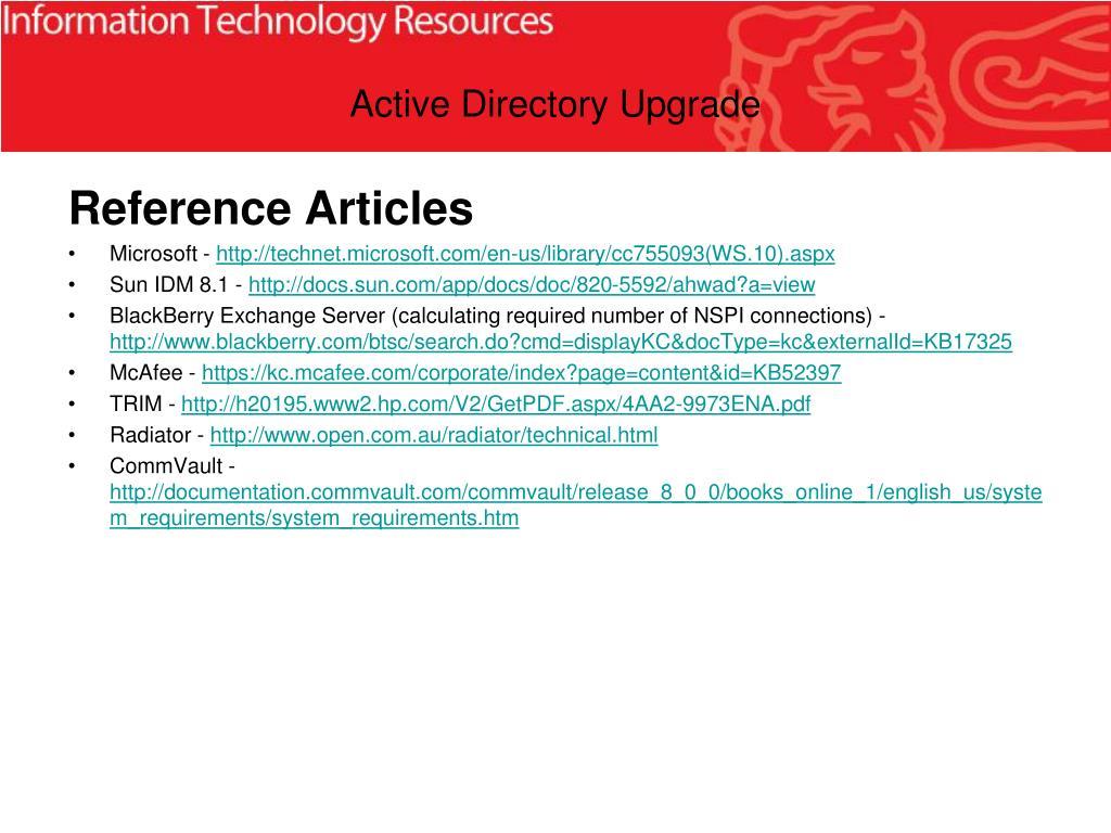 Active Directory Upgrade