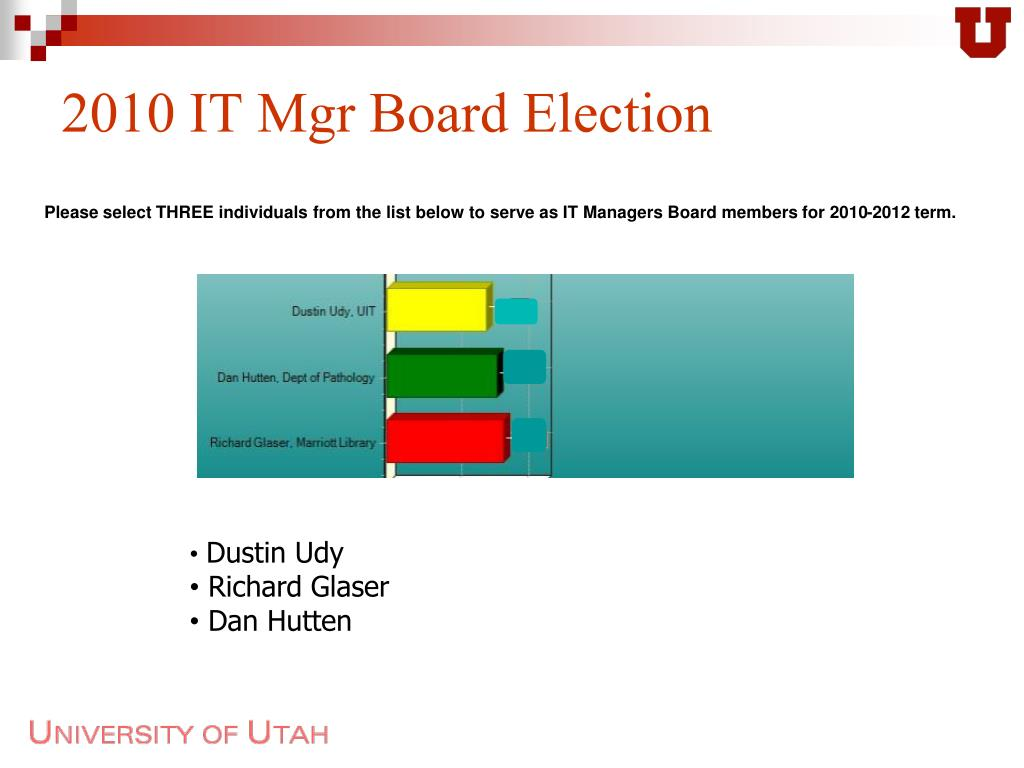 2010 IT Mgr Board Election