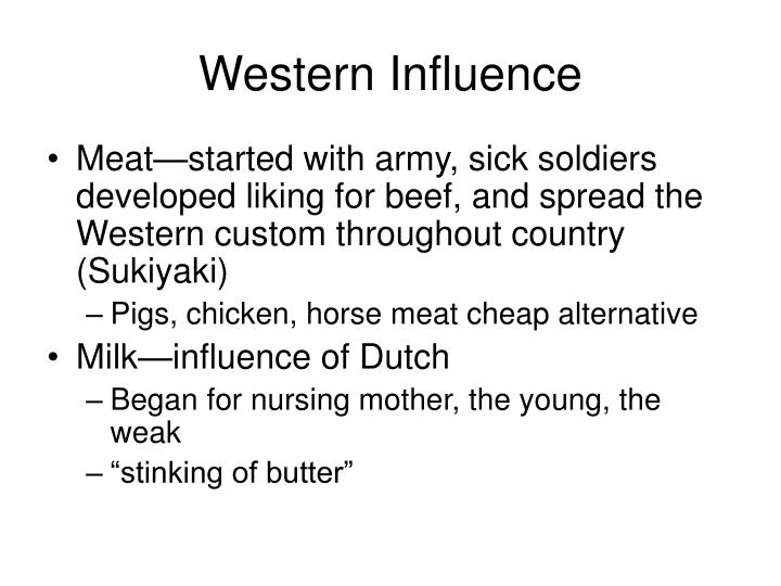 Western Influence