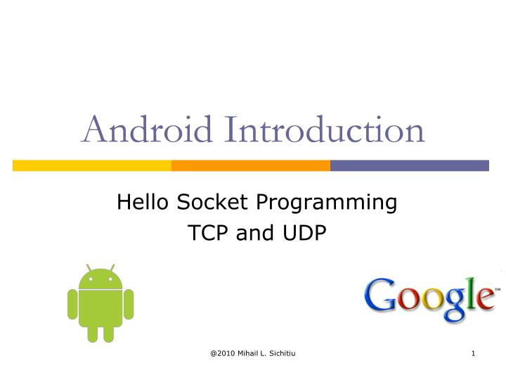 Hello socket programming tcp and udp