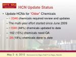 hcn update status