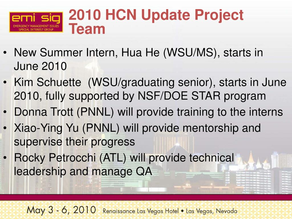 2010 HCN Update Project Team