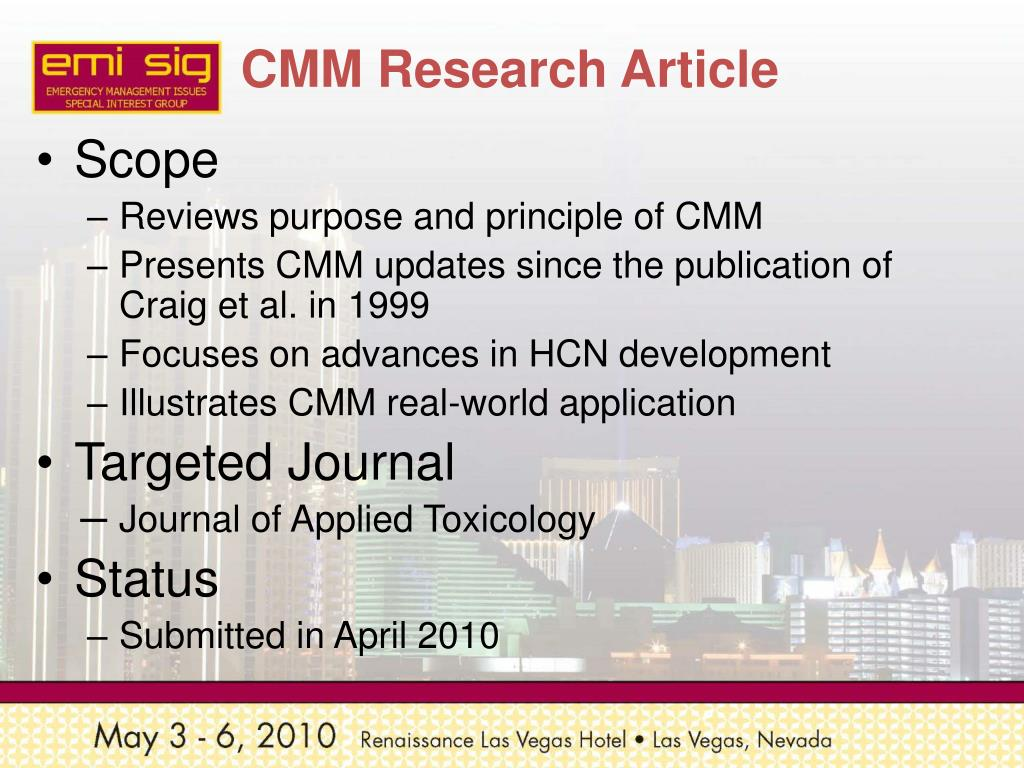 CMM Research Article