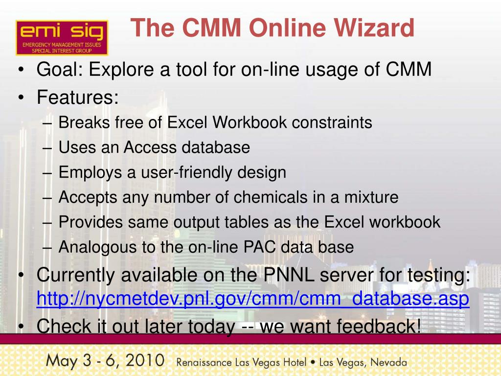 The CMM Online Wizard