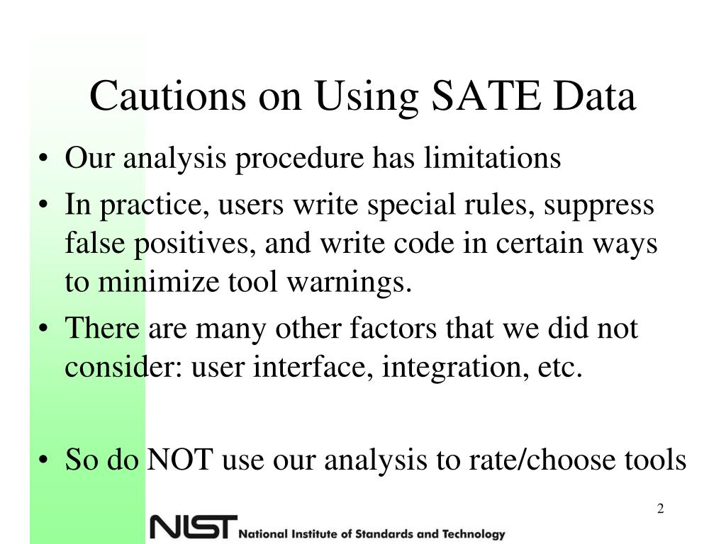 Cautions on Using SATE Data
