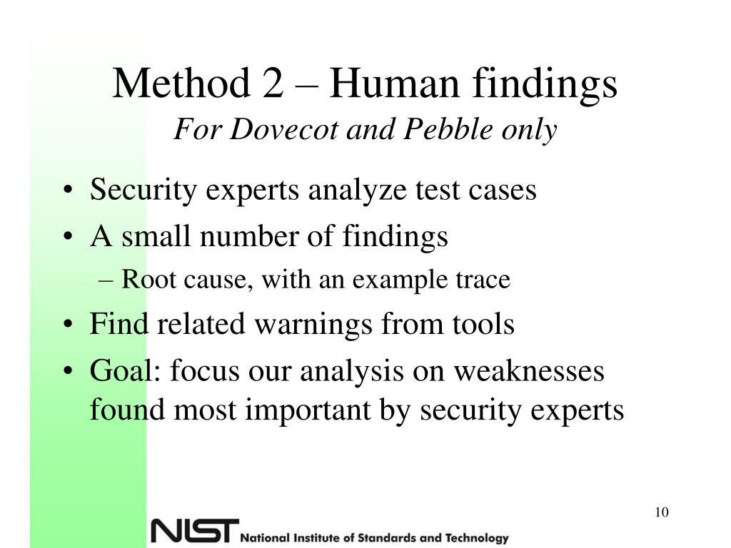 Method 2 – Human findings