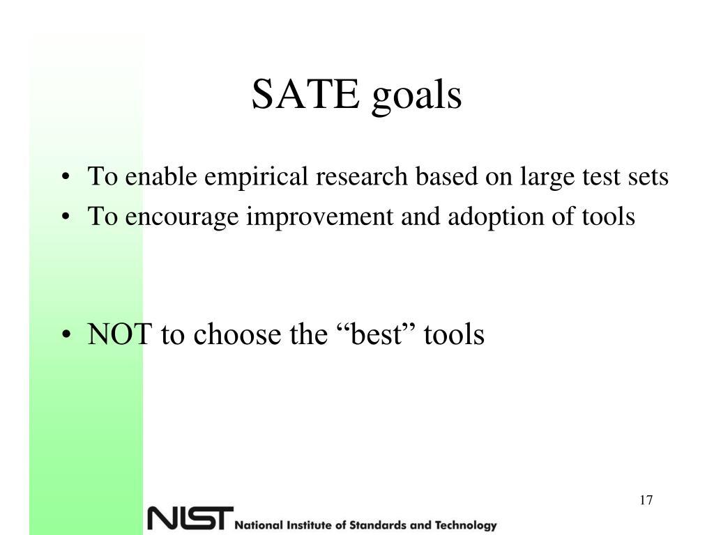 SATE goals