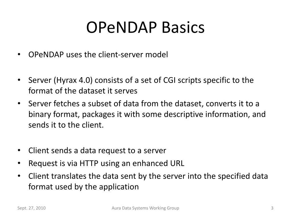OPeNDAP Basics