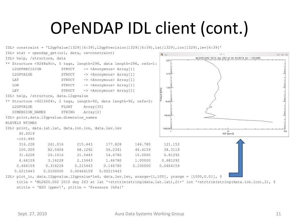OPeNDAP IDL client (cont.)