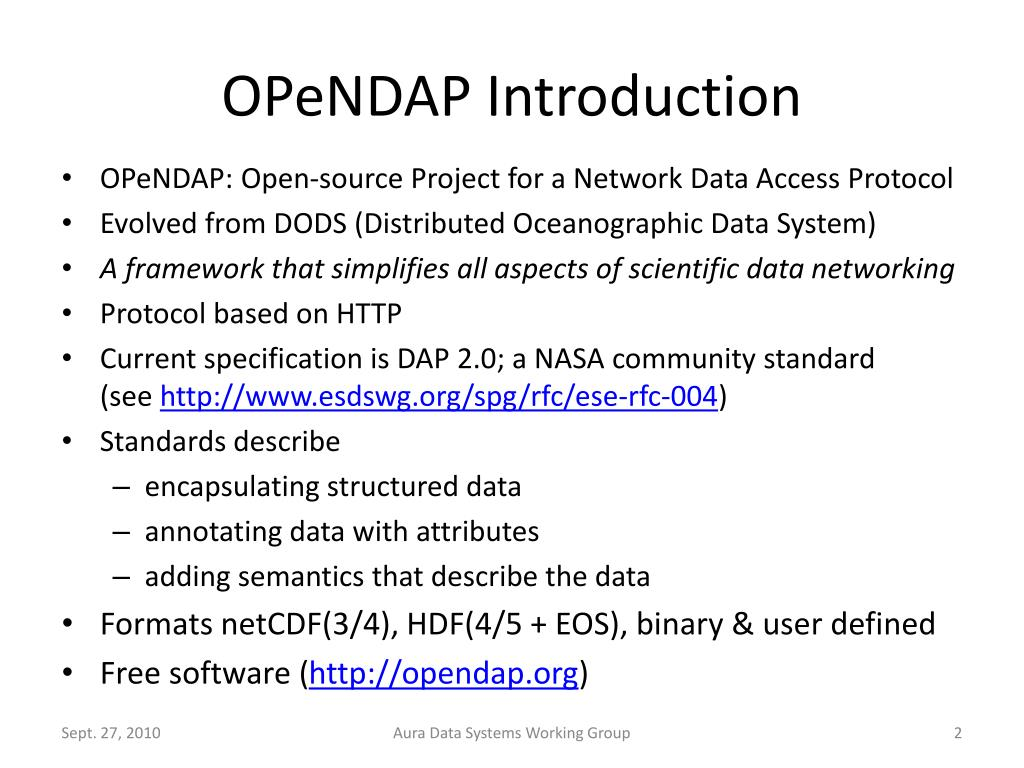 OPeNDAP Introduction
