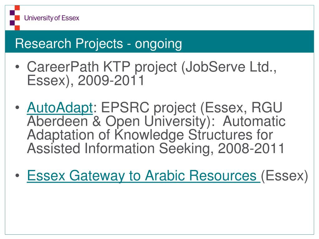 Research Projects - ongoing