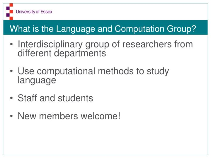 What is the language and computation group