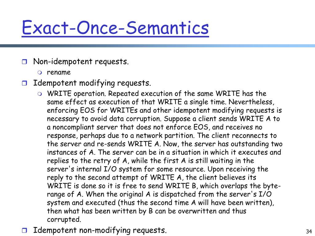Exact-Once-Semantics