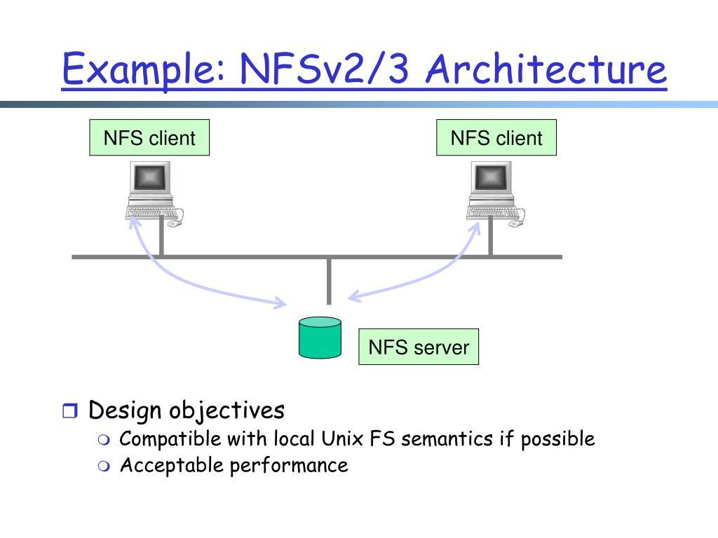 Example: NFSv2/3 Architecture