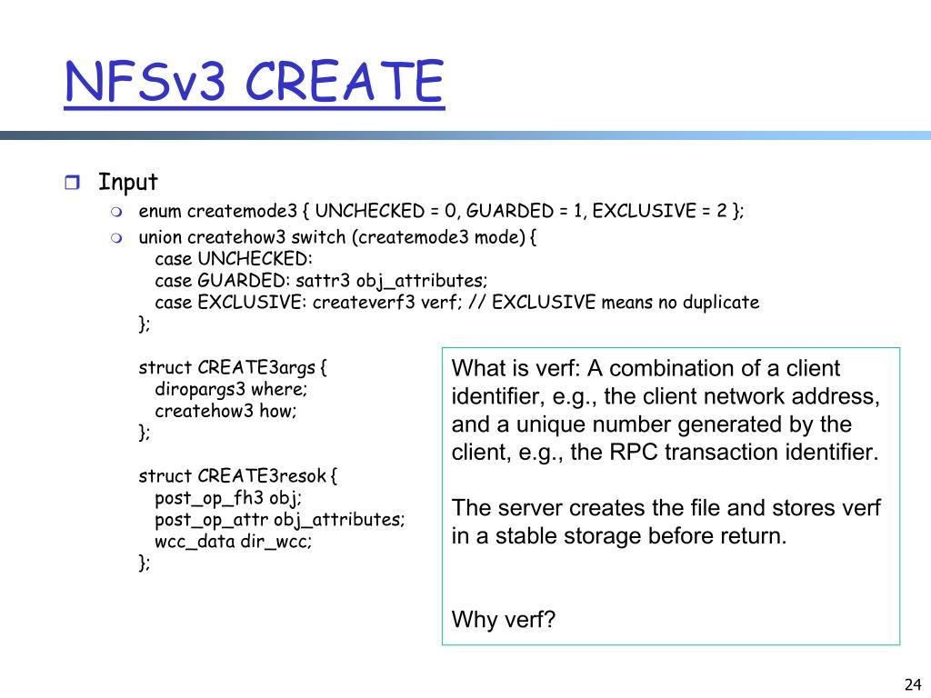 NFSv3 CREATE