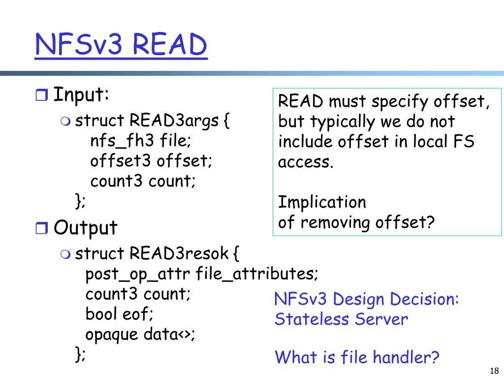 NFSv3 READ